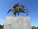 Standbeeld van Alexander de Grote in Thessaloniki, Griekenland