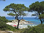 Strand bij Vourvouro, Griekenland
