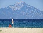 Uitzicht op de berg Athos, Griekenland