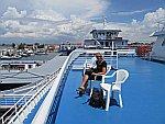 Op de boot naar Thassos, Griekenland