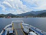 De haven van Limenas Thassos, Griekenland