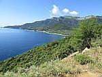 De kust bij Palaioxori, Griekenland