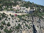 Het aartsengelen klooster in het zuiden van Thassos, Griekenland