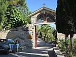 Poort van het klooster van de Aartsengelen, Thassos, Griekenland