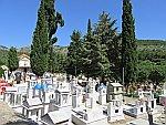 Een begraafplaats in Theologos, Thassos, Griekenland