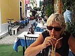 Pauze in Limenas, Griekenland