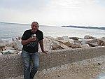 Ijsje eten in Astris, Thassos, Griekenland