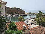 De haven van Limenaria, Thassos, Griekenland