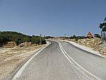 De weg naar Kastro houdt op in het dorp, Griekenland