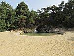 Waterpoel bij Ktira Iodranou, Thassos, Griekenland