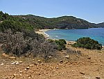 Het Fari strand, Thassos, Griekenland