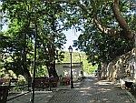 Pleintje in Kallirachi, Thassos, Griekenland