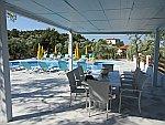 Het zwembad bij ons appartement in Astris op Thassos, Griekenland