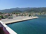 We vertrekken met de ferry van Thassos, Griekenland