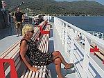 Op de ferry van Thassos naar Keramoti, Griekenland