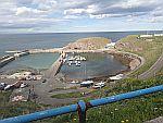 De beschutte haven van Findochty, Schotland