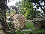 Adelaar standbeeld in de tuin, Schotland