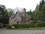 Gatelodge in de buurt van Elcho kasteel, Schotland