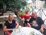 Lunchen in Polygyros, Griekenland