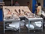 Vis op de markt in Thessaloniki, Griekenland