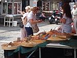 Nootjes op de markt in Thessaloniki, Griekenland