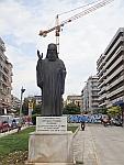 Standbeeld van Chrysostomos of Smyrna, Thessaloniki, Griekenland