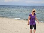 Op het strand bij Archaia Pydna, Griekenland
