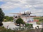 Het DC3 café bij Methoni, Griekenland