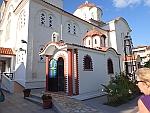 Grieks-orthodoxe kerk in Olympiaki Akti, Griekenland