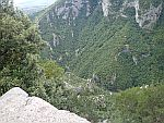Kloof in het Olympusgebergte bij het Zilnia viewpoint, Griekenland