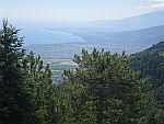 Uitzicht vanaf de Olympos, Griekenland
