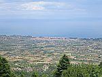 Uitzicht vanaf de flanken van de Olympus, Griekenland