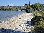 Het strand van Kalamos in de Pilion, Griekenland