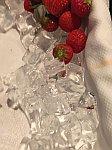 Aardbeien op ijs als toetje, Griekenland