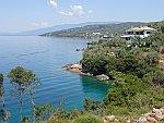 De kust bij Marathias op het Pilion schiereiland, Griekenland