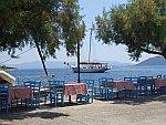 De kust bij Agia Kyriaki op het Pilion schiereiland, Griekenland