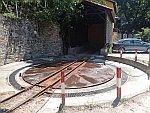 Draaipunt voor de locomotief van de Pilio, Griekenland