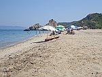 Op het strand bij Potistika, Griekenland