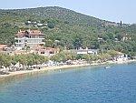 De kust bij Glyfa, Griekenland