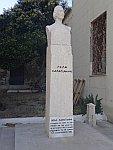 Standbeeld in Limni, Griekenland