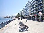 De boulevard van Chalkida, Griekenland