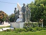 Standbeeldengroep in Chalkida, Griekenland