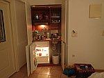 De keuken in ons appartement in Ilia, Griekenland