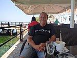 Koffiedrinken in Limni, Griekenland