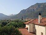Uitzicht op de bergen achter Diakopto, Griekenland