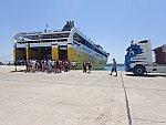 De veerboot naar Zakynthos in Kyllini, Griekenland
