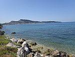 Uitzicht op Zakynthos stad vanuit Argasi, Griekenland