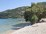 Strand bij Limni Keri op Zakynthos, Griekenland
