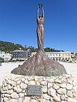 Standbeeld Glorie in Zakynthos stad, Griekenland