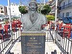 Borstbeeld van Confucius in Zakynthos stad, Griekenland